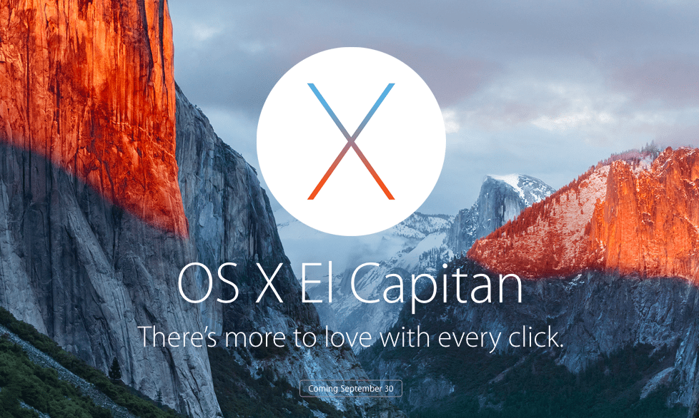 OS X El Capitan update
